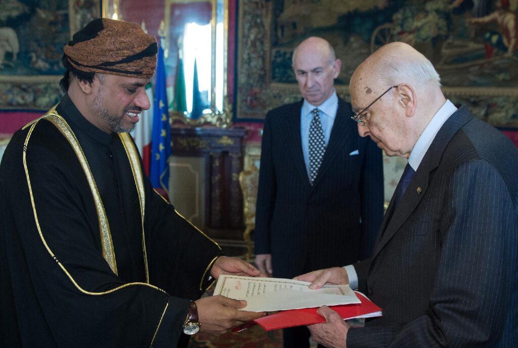 ambasciatore oman baomar