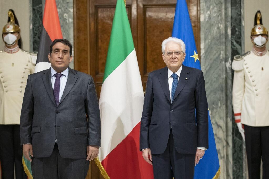 Al-Menfi con il Presidente della Repubblica Sergio Mattarella