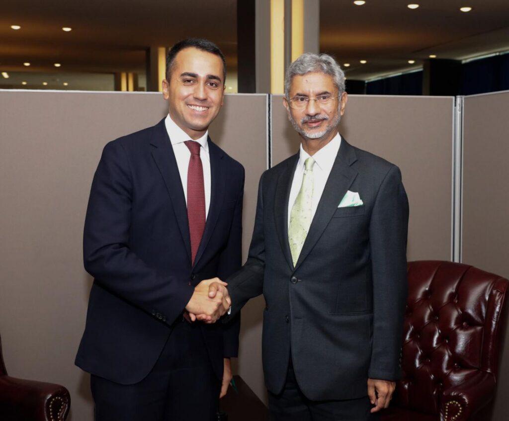 Luigi Di Maio con il Ministro degli Esteri indiano Subrahmanyam Jaishankar