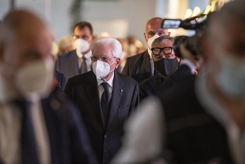 President Mattarella at the inauguration of Supersalone