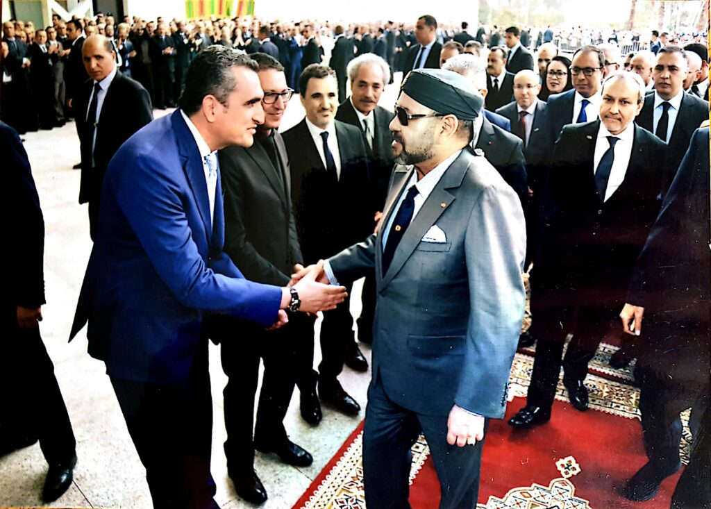 Hicham Lahlou together with HM King Mohammed VI of Morocco