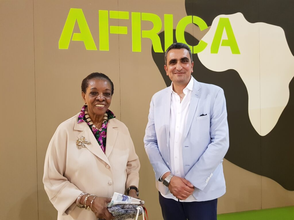 Hicham Lahlou togheter with Marva Griffin in 2018 at SaloneSatellite