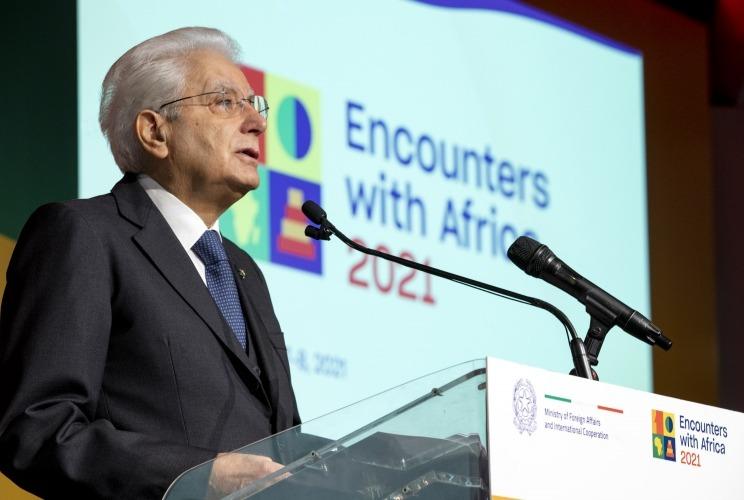 Il Presidente Sergio Mattarella apre la terza conferenza ministeriale Italia-Africa