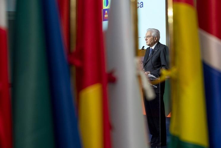 Il Presidente della Repubblica Sergio Mattarella alla terza conferenza interministeriale Italia Africa